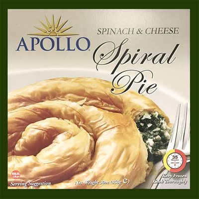 APOLLO Spiral Spinach & Cheese Pie 850g