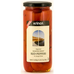 KRINOS Roasted Red Peppers 1lb