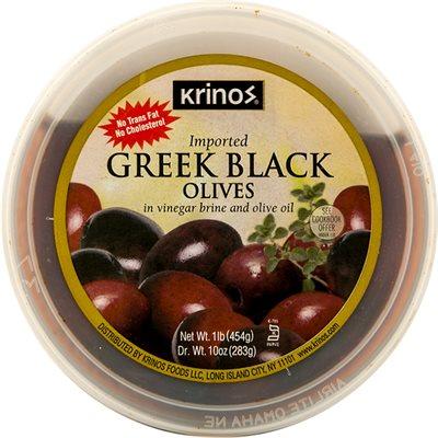 KRINOS Greek Black Olives 16oz