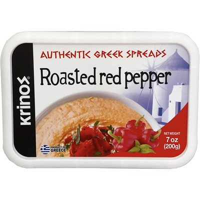 KRINOS Roasted Red Pepper Spread 7oz