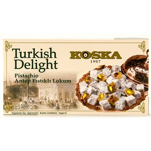KOSKA Turkish Delight Pistachio Lokum 500g