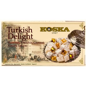 KOSKA Turkish Delight Hazelnut, Pistachio and Coconut Lokum 500g