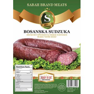 SABAH Smoked Dried Sausage Made with Beef (Bosanski Sudzuk) Appr 20lb