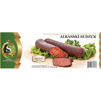 SABAH Beef Smoked Albanian Style Sausage (Albanski Sudzuk) Appr 20lb