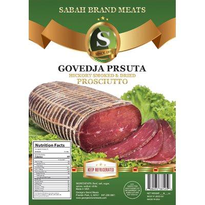 SABAH Smoked Dried Beef (Govedja Prsuta) Appr 20lb