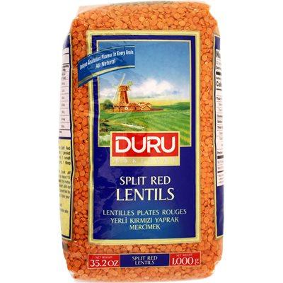 DURU Split Red Lentils (Kirmizi Mercimek) 1kg