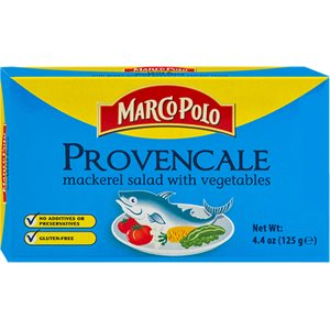 "MARCO POLO ""Provencale"" Mackerel Salad with Vegetables 4.4oz"