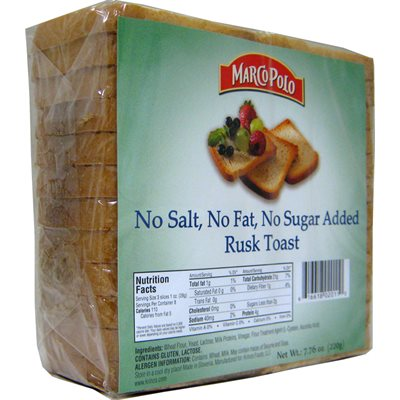 MARCO POLO Salt, Fat and Sugar-Free Golden Rusks 7.7oz