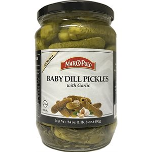 MARCO POLO Baby Dill Pickles with Garlic 24oz