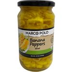 MARCO POLO Sliced Banana Peppers 15.5oz