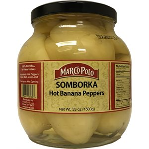 MARCO POLO Hot Banana Peppers (Somborka) 1500g