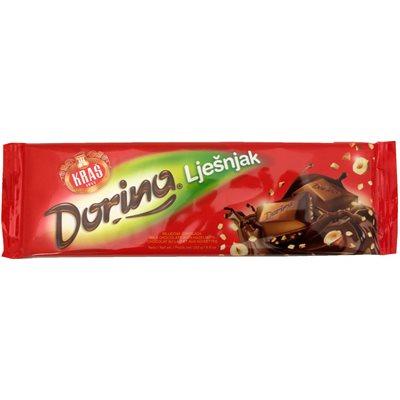KRAS Dorina Chocolate with Chopped Hazelnuts 250g