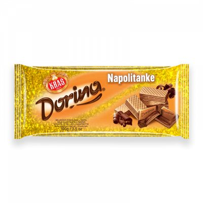 KRAS Chocolate with Napolitanke Wafers 100g