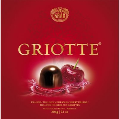 KRAS Griotte Chocolate-Covered Cherries 204g