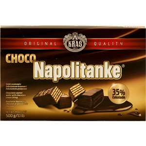 KRAS Napolitanke Chocolate Covered Wafers 500g