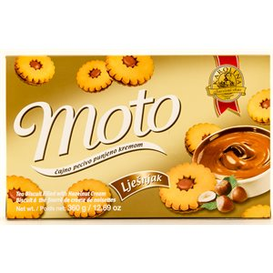 KRAS Karolina Moto Cookies with Hazelnut Filling 360g