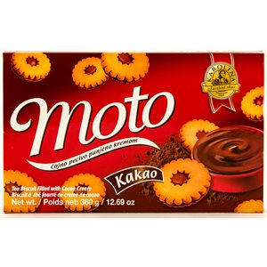 KRAS Karolina Moto Cookies with Chocolate Filling 360g