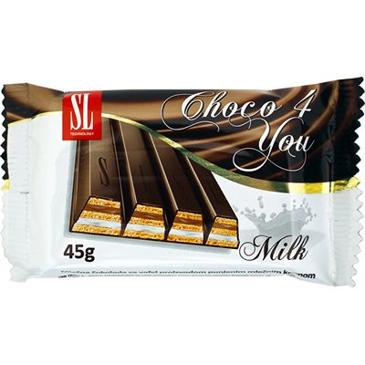 SWISSLION Choco 4 You Wafers with milk 45g