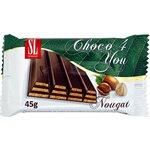 SWISSLION Choco 4 You Wafers with nougat 45g