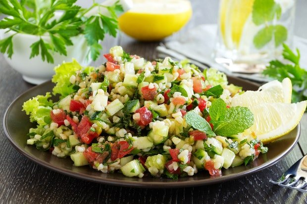 lemon-mint-and-tabbouleh-salad